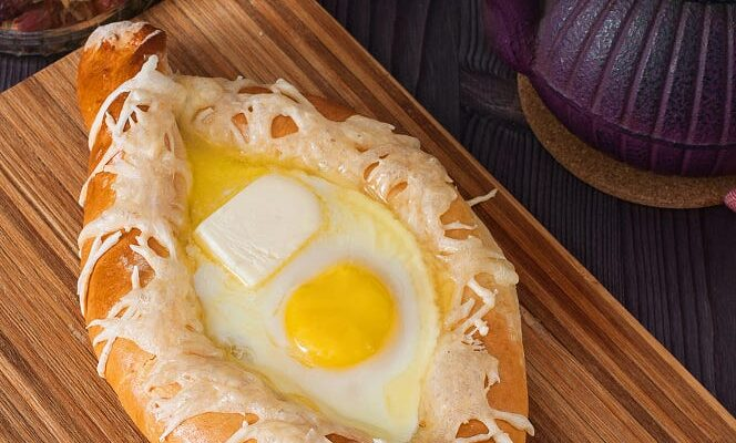 Khachapuri - Georgian bread cheese and egg